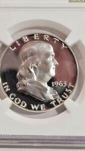 1963 Franklin Half Dollar Certified NGC Proof-67-Cameo - Sharp !