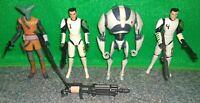 Star Wars 501st Clone Trooper Cadet CUTUP & HEVY + EL-LES +Training Battle Droid