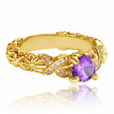 Multi-Color CZ Disney Rapunzel Princess Engagement Ring in 925 Sterling Silver