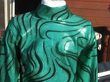 Girls sizes Kelly green western show slinky rail shirt leadline, S M L XL