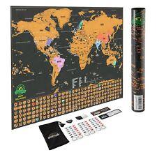 Mapa del Mundo Rascar Mapamundi seguimiento Viajes Aventuras Estados USA Bandera