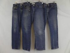 Lot of 3 Levis 505 Red Tab Regular Straight Fit Dark Wash Blue Denim Jeans 34x32