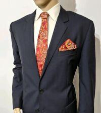 New Hugo Boss Mens Navy Suit Jacket Silk Wool Black Label UK 46R IT 56 RRP £399