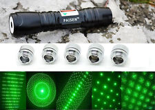 5 Patterns 532nm Laser Flashlight Pointer Pen Green Laser Torch Super Bright