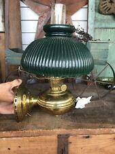 Antique 1915-16 Aladdin Model No 6 Wall Mount  Lamp , Electrified, Green Shade
