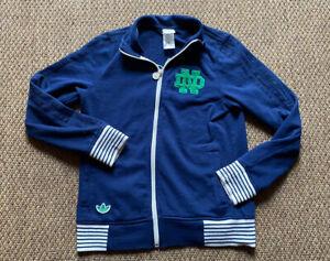 Vintage Notre Dame Fighting Irish College Adidas Track Jacket Men/Adult Sm
