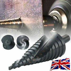 HSS Spiral Step Cone Drill Bit Titanium Nitride Coated Metal Hole Cutter 1PC
