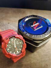 Casio G-Shock Red 5081 Ga-100B-4Ajf Quartz Watch (New)