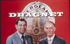 Dragnet TV series Jack Webb Harry Morgan against police badge and show title