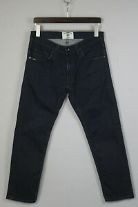 TIGER OF SWEDEN IGGY Men W34 L28 Straight Stretch Raw Denim Blue Jeans 19106-L