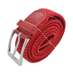 Men Elastic Fabric Woven Belt Expandable Braided Stretch Belts