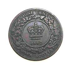 NOVA SCOTIA CANADA 1862 Cent Penny Queen Victoria KM 8.2