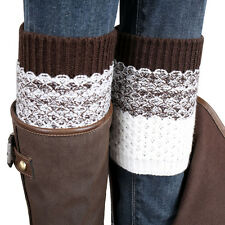 New 2016 Wellies Jacquard Knitted Leg Warmers Winter Socks Boot Cover Hot Sale