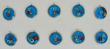 10 Art Glass Pendant Prism Bohemian Art And Crafts Stained Necklace Earrings