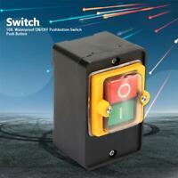 220V / 380V 10A interruttore a pulsante ON / OFF impermeabile A prova di olio