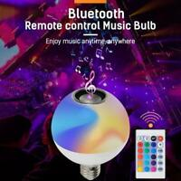 Smart RGB Wireless Bluetooth Speaker LED Bulb Light Dimmable with Remote Control