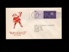 WWII Patriotic Wartime Santa Claus Give Bonds & Stamps Alcoa TN 1944 Cover 7l