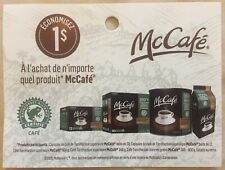 Lot of 10 x 1.00$ McCafe Products Coupons Canada