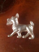 Vtg Lucite Scottish Terrier Scotty Dog Brooch Pin Carved Cairn Terrier