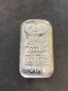 NES Norddeutsche Edelmetall 100 Gramm 999 Silberbarren mit Seriennummer