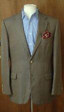 Joseph Abboud Men's Gold Blue Black Silk & Wool Sport Coat Blazer 42R 42 Regular
