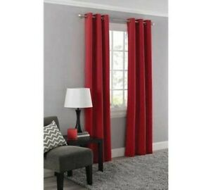 """Mainstays blackout curtain panel 40"""" x 63"""" classic red grommet top"""