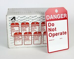 """New LOT of 25 - Lockout Tags ACCUFORM SIGNS """" Danger Do Not Operate """" MPMTS01"""