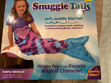 Snuggie Tails Mermaid Purple Blue Soft Cuddly Blanket As Seen on Tv New Unopened