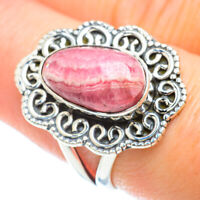 Rhodochrosite 925 Sterling Silver Ring Size 8.5 Ana Co Jewelry R50711F