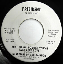 GUARDIANS OF THE RAINBOW 45 What Do You Do When.. / Cry.. VG++ Psych PROMO c2069