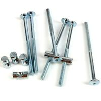 M6 COUNTERSUNK BOLT WASHER COLLAR NICKEL FURNITURE CONNECTION FIXINGS COT BED