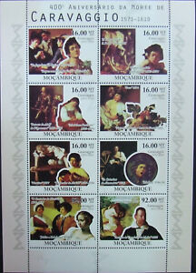Mozambique -2010-Caravaggio- Painting-,1 M/Sh.+ 1 S/Sgh.MNH**, MZ041