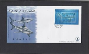Ascension Island 2008 Sharks MS miniature sheet First Day Cover FDC