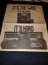 The Who It's Hard Rare Original Uk Promo Poster Ad Framed!