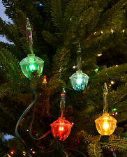 Holiday Bright Lights Christmas Bubble Light Set (Transparent Retro Multicolor)