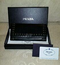 Black soft nappa leather Prada purse