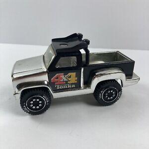 Vintage 1979 TONKA TRUCK 812888 4x4 Silver Chrome & Black Pick Up Pickup Truck