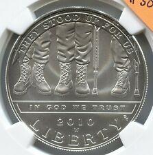 2010 W $1  Disabled Veterans Silver Dollar - DCAM - .999 - Lot #SB 190