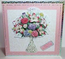 "Kanban Mothers Day 8""x8"" Decoupage Card Making Craft Kit With Envelope & Toppers"