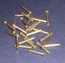 25 Messing Halbrundnieten  Vollnieten Nieten DIN 660 Halbrundkopf 3x20