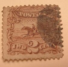 SCOTT #113 2 CENT 1869 PONY EXPRESS  ISSUE  USED