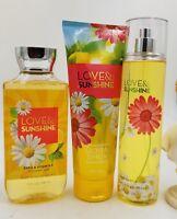 Bath & Body Works Love & Sunshine  Shower Gel, Body Cream & Mist