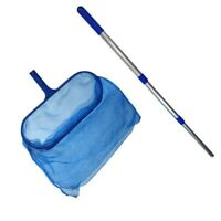 Hot Swimming Pool Net Leaf Rake Mesh Skimmer With Telescopic Pole Cleaning Tool
