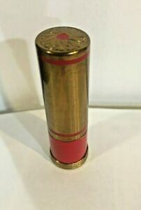 VINTAGE LIPSTICK BY COTY- MAGNET RED- RED AND GOLD METAL CASE