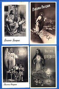SERIE 4 CARTOLINE DI BUONA PASQUA ORIGINALI  VIAGGIATE ANNI 1930 (26