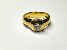 GOLDRING MIT DIAMANT AUS GG 585 von Harry Ivens + ZERTIFIKAT