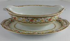 Adline China Occupied Japan Gravy Boat with Attached Underplate