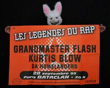 GRANDMASTER FLASH -  Affiche concert Paris Bataclan - 1995 - Poster 120 x 78 cm