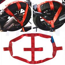 Rot Motorrad Rad Befestigungsgurte Reifen Halterung Transport Riemen Universal
