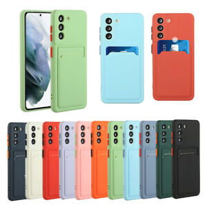 For Samsung Galaxy S21 S20+ A12 A52 A72 Shockproof Wallet Card Holder Case Cover